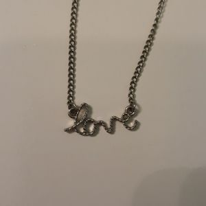 """Dainty """"love"""" necklace"""